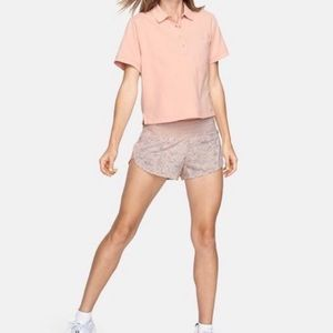 Outdoor Voices NWT women's polo in pale blush XS